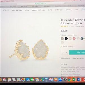 Kendra Scott Stud Earrings In Iridescent Drusy